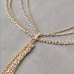 American Eagle Outfitters Jewelry - NWT American Eagle Gold and White Chain Necklace